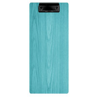 Menu Solutions WDCLIP-BA Sky Blue 4 1/4 inch x 11 inch Customizable Wood Menu Clip Board