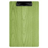 Menu Solutions WDCLIP-A Lime 5 1/2 inch x 8 1/2 inch Customizable Wood Menu Clip Board / Check Presenter
