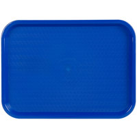 Choice 12 inch x 16 inch Blue Plastic Fast Food Tray - 24/Case