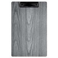 Menu Solutions WDCLIP-A Ash 5 1/2 inch x 8 1/2 inch Customizable Wood Menu Clip Board / Check Presenter