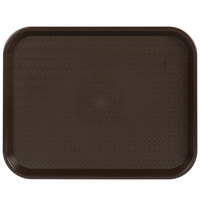 Choice 14 inch x 18 inch Chocolate Brown Plastic Fast Food Tray - 12/Pack