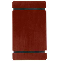Menu Solutions WDRBB-A Mahogany 5 1/2 inch x 8 1/2 inch Customizable Wood Menu Board with Rubber Band Straps