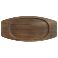 World Tableware CIS-18TR 7 7/8 inch x 5 3/4 inch Wooden Trivet with Oval Well - 12/Case