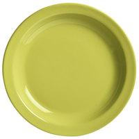 World Tableware VCG-16 Veracruz 10 1/2 inch Round Margarita Green Narrow Rim China Plate - 12/Case