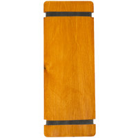 Menu Solutions WDRBB-BA Country Oak 4 1/4 inch x 11 inch Customizable Wood Menu Board with Rubber Band Straps