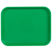Choice 14 inch x 18 inch Green Plastic Fast Food Tray - 12/Pack