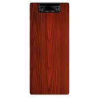 Menu Solutions WDCLIP-BA Mahogany 4 1/4 inch x 11 inch Customizable Wood Menu Clip Board