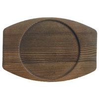 World Tableware CIS-15TR 7 7/8 inch x 7 inch Wooden Trivet with Round Well - 12/Case