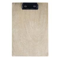 Menu Solutions WDCLIP-A Weathered Walnut 5 1/2 inch x 8 1/2 inch Customizable Wood Menu Clip Board / Check Presenter