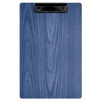 Menu Solutions WDCLIP-A True Blue 5 1/2 inch x 8 1/2 inch Customizable Wood Menu Clip Board / Check Presenter