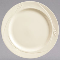 World Tableware END-10 Endurance 10 1/4 inch Round Cream White Medium Rim China Plate - 12/Case