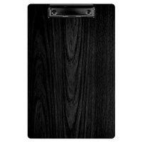 Menu Solutions WDCLIP-A Black 5 1/2 inch x 8 1/2 inch Customizable Wood Menu Clip Board / Check Presenter