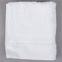 Lavex Lodging 13 inch x 13 inch 100% Combed Egyptian Cotton Hotel Washcloth 1.5 lb.   - 12/Pack