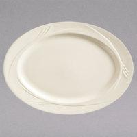 World Tableware END-34 Endurance 13 1/2 inch x 9 1/2 inch Cream White Medium Rim China Platter - 12/Case