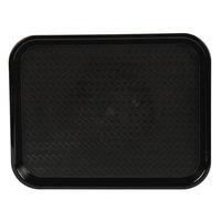 Choice 10 inch x 14 inch Black Plastic Fast Food Tray