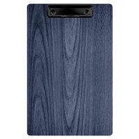 Menu Solutions WDCLIP-A Denim 5 1/2 inch x 8 1/2 inch Customizable Wood Menu Clip Board / Check Presenter
