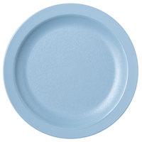 Carlisle PCD20659 Slate Blue 6 1/2 inch Polycarbonate Narrow Rim Plate - 48/Case