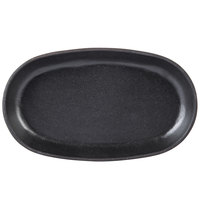 World Tableware CIS-18 9 1/2 inch x 6 1/2 inch Oval Cast Iron Tray - 12/Case