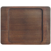 World Tableware CIS-16TR 7 7/8 inch x 6 1/8 inch Wooden Trivet with Square Well   - 12/Case
