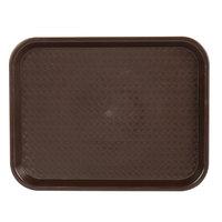 Choice 10 inch x 14 inch Chocolate Brown Plastic Fast Food Tray