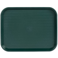 Choice 14 inch x 18 inch Forest Green Plastic Fast Food Tray