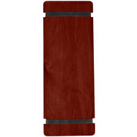 Menu Solutions WDRBB-BA Mahogany 4 1/4 inch x 11 inch Customizable Wood Menu Board with Rubber Band Straps