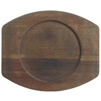 World Tableware CIS-17TR 8 1/2 inch x 7 inch Wooden Trivet with Round Well - 6/Case