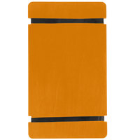 Menu Solutions WDRBB-A Country Oak 5 1/2 inch x 8 1/2 inch Customizable Wood Menu Board with Rubber Band Straps