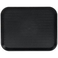 Choice 14 inch x 18 inch Black Plastic Fast Food Tray