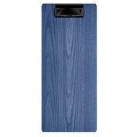 Menu Solutions WDCLIP-BA True Blue 4 1/4 inch x 11 inch Customizable Wood Menu Clip Board