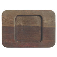 World Tableware CIS-26TR 5 1/2 inch x 4 inch Wooden Trivet with Square Well - 12/Case