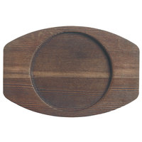 World Tableware CIS-25TR 6 1/4 inch x 4 3/8 inch Wooden Trivet with Round Well - 12/Case