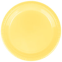 Creative Converting 28102021 9 inch Mimosa Plastic Dinner Plate - 240 / Case