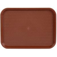 Choice 12 inch x 16 inch Burgundy Plastic Fast Food Tray - 24/Case