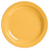 World Tableware VCM-16 Veracruz 10 1/2 inch Round Marigold Narrow Rim China Plate - 12/Case
