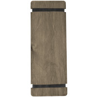 Menu Solutions WDRBB-BA Weathered Walnut 4 1/4 inch x 11 inch Customizable Wood Menu Board with Rubber Band Straps