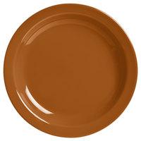 World Tableware VCC-8 Veracruz 9 inch Round Cocoa Narrow Rim China Plate - 24/Case
