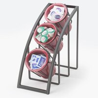 Cal Mil 1747-3-13 Black Steel Mission Sloped 3-Tier Cylinder Display – 7 inch x 13 inch x 13 inch