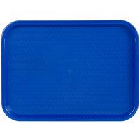 Choice 12 inch x 16 inch Blue Plastic Fast Food Tray