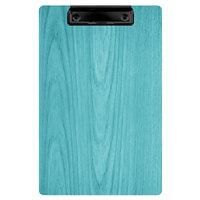 Menu Solutions WDCLIP-A Sky Blue 5 1/2 inch x 8 1/2 inch Customizable Wood Menu Clip Board / Check Presenter