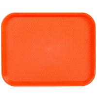 Choice 14 inch x 18 inch Orange Plastic Fast Food Tray
