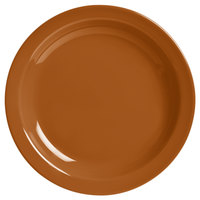 World Tableware VCC-6 Veracruz 6 1/2 inch Round Cocoa Narrow Rim China Plate - 36/Case