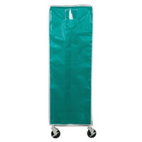 Curtron SUPRO-BM-GN Green Supro Breathable Mesh Bun / Sheet Pan Rack Cover - 23 inch x 28 inch x 62 inch