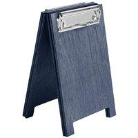 Menu Solutions WDSD-CL-A 4 inch x 6 inch Denim Wood Sandwich Menu Board Tent with Clip