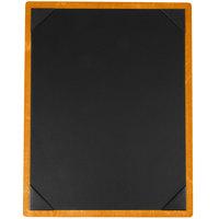 Menu Solutions WDPIX-C Country Oak 8 1/2 inch x 11 inch Customizable Wood Menu Board with Picture Corners