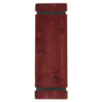Menu Solutions WDRBB-BD Mahogany 4 1/4 inch x 14 inch Customizable Wood Menu Board with Rubber Band Straps