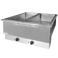 APW Wyott HFWAT-4D Insulated Four Pan Drop In Hot Food Well with Drain and Attached Controls and Plug - 240V