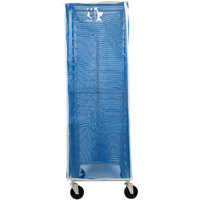 Curtron SUPRO-BM-BL Blue Supro Breathable Mesh Bun / Sheet Pan Rack Cover - 23 inch x 28 inch x 62 inch