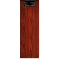 Menu Solutions WDCLIP-BD Mahogany 4 1/4 inch x 14 inch Customizable Wood Menu Clip Board