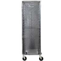 Curtron SUPRO-BM-BK Black Supro Breathable Mesh Bun / Sheet Pan Rack Cover - 23 inch x 28 inch x 62 inch
